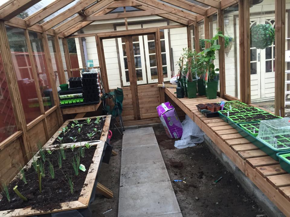 optional extras on dunster house greenhouse