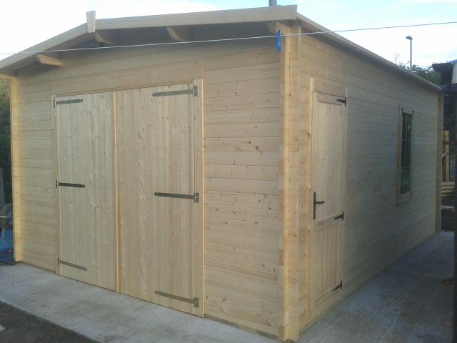 Dunster House garage construction tutorial