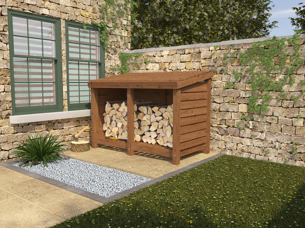 Log Store in the garden from Dunster House