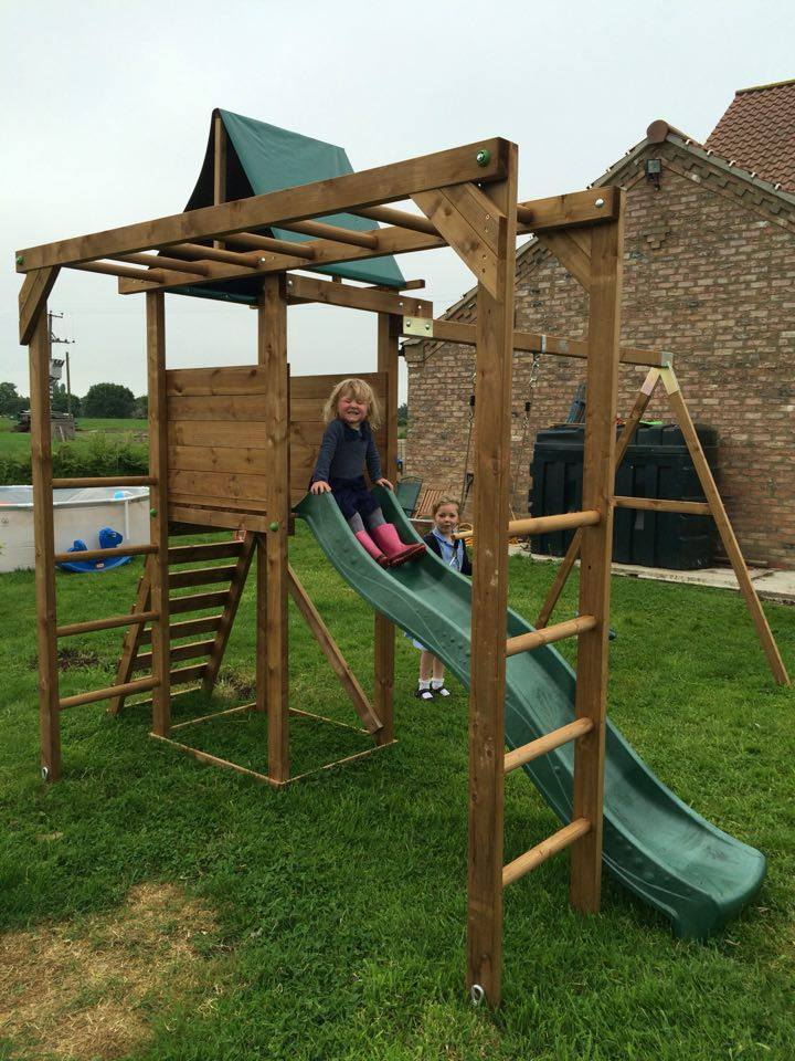 Climbing Frame from Dunster House with kids