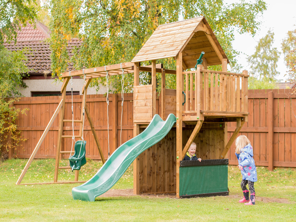 Climbing Frames from Dunster House with kids