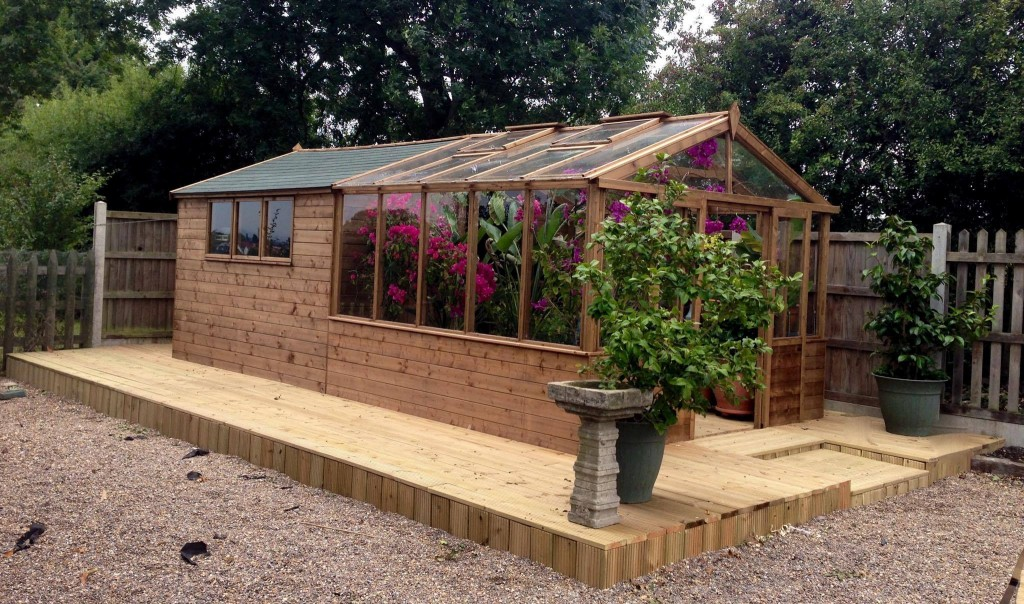 Greenhouse Shed Combo Dunster House