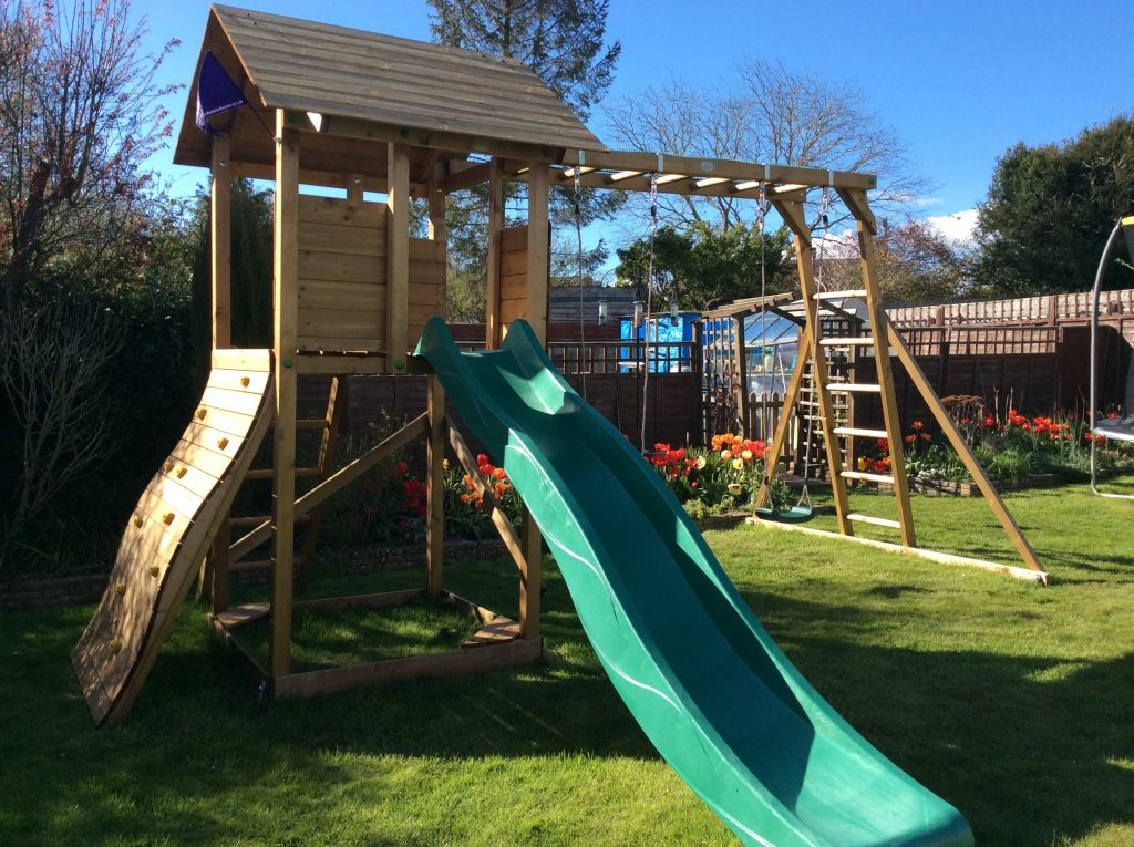 Climbing Frames from Dunster House with two swings