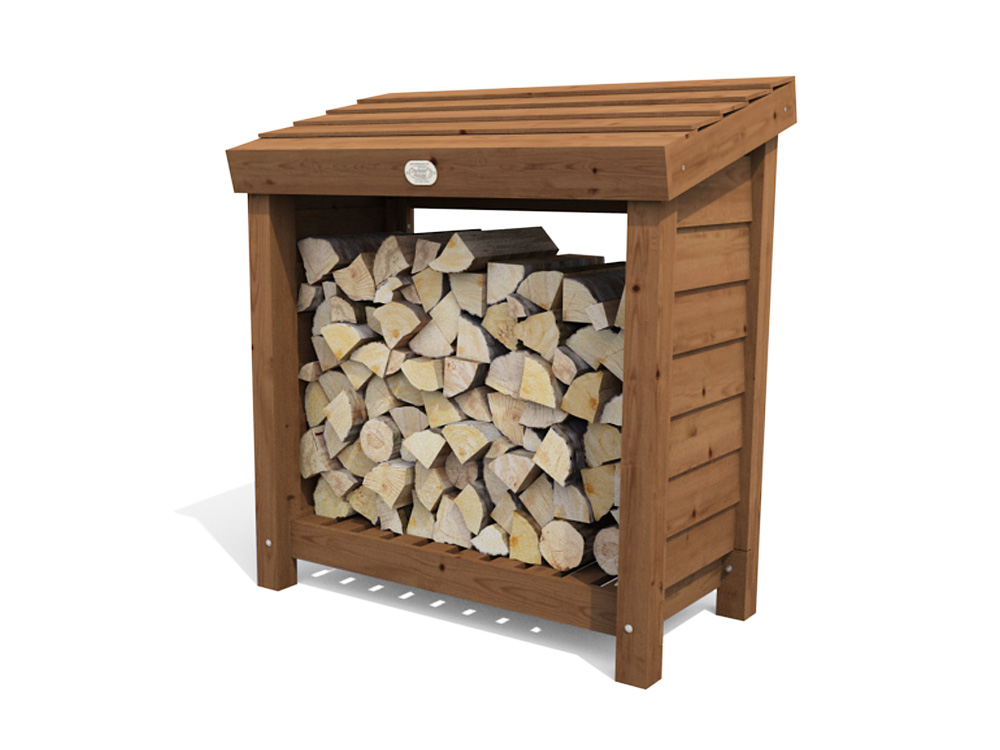 Small Logstore- spruce wood, pressure treated